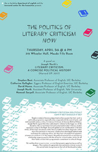 Is literary criticism political? | Representations